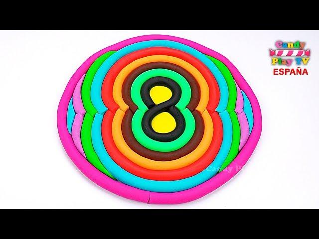 Aprender colores en español para niños  Como hacer los número ocho en plastilina Play Doh