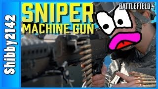 SNIPER MACHINE GUN (Battlefield 4 in 4K)