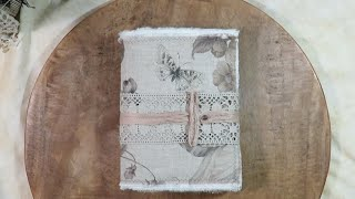 Nature Junk Journal Softcover Fabric Cover Flip Through