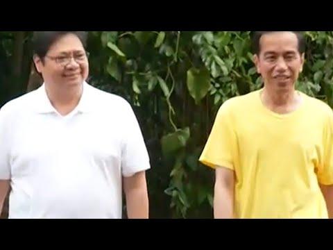 "Sambil ""Jogging"", Jokowi dan Airlangga Bahas Cawapres"