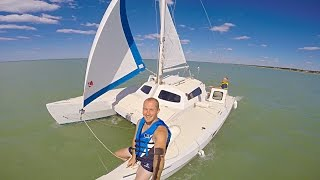 Sailing with Bruce on the Wizard Catamaran