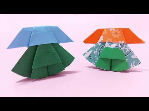 Miniature Origami Dress : How to Make Paper Dress , Paper Craft , Easy Paper Dress DIY