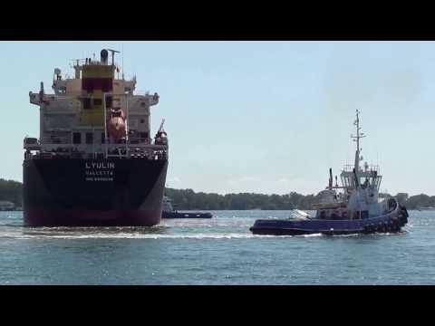 Ship in Toronto harbor.