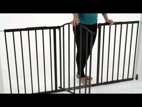 Summer Infant Metal Expansion 6 Foot Wide Extra Tall Walk-Thru Gate Product Video