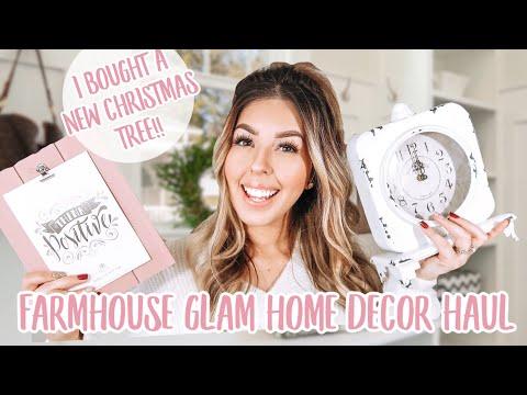 Home Decor Haul & My New Christmas Tree   Walmart, Amazon, Homegoods, Michael's, At Home