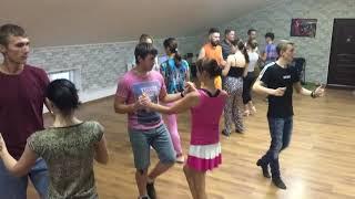 Урок в группе начинающих   Школа танцев для взрослых AC DANCE   Бачата, хастл