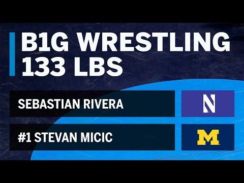 133 LBS: Sebastian Rivera (Northwestern) vs #1 Stevan Micic (Michigan) | Big Ten Wrestling