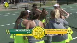 Tech Tennis vs. Arkansas Pine Bluff Highlights - 3/28/17