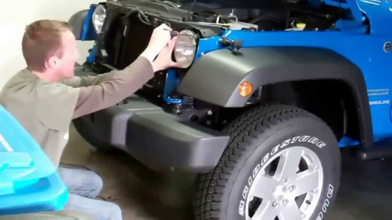 maxresdefault 2012 jeep wrangler episode 1 grill removal and ipf headlight arb headlight wiring harness at aneh.co