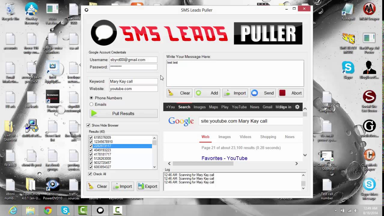 SMS Leads Puller 1.0