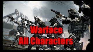 Warface - All Characters