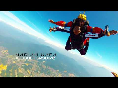 Nadiah Wafa - Tandem Skydive 10000ft at Taiping, Perak.