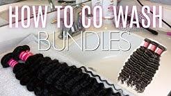 How To CO-WASH Bundles! ft. Klaiyi Hair Brazilian Deep Wave