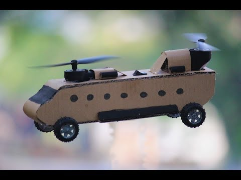 How to make a Helicopter - Electric CH47 Military Helicopter