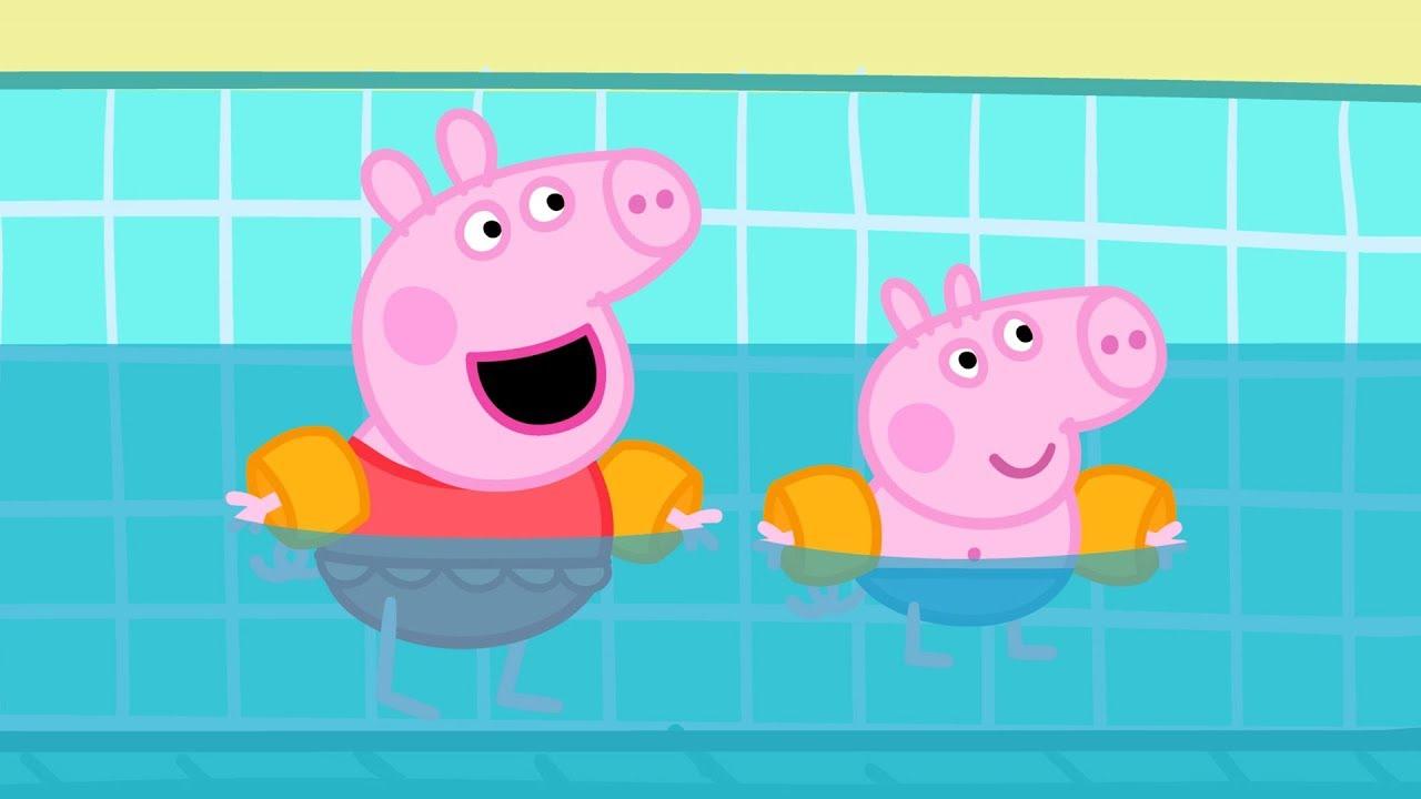 Peppa pig fran ais des sports compilation dessin - Peppa pig francais piscine ...