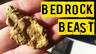 huge gold nugget found in solid bedrock metal detecting for gold
