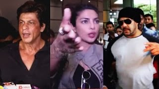 Bollywood Celebs ANGRY REACTIONS Caught On Camera | Shahrukh, Priyanka, Salman