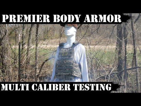 AK47/AR15/AR10 vs Premier Body Armor / Multi caliber Testing