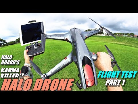 GoPro Karma Killer!? HALO DRONE PRO Flight Test Review Part 1 - With TX & Tracker - 2018 Top Drone?