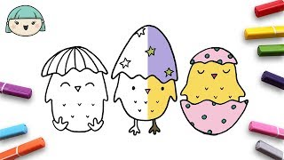 HOW TO DRAW AN EASTER CHICK ☆ Drawing and Coloring for Kids