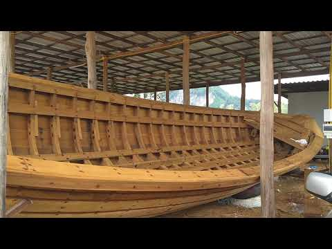Tradition Thai boat building Krabi, Thailand Aug. 2018
