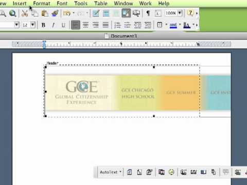 How To Make Electronic Letterhead in Word - YouTube