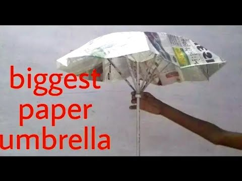 worlds biggest paper umbrella, how to make big umbrella,  origami umbrella,craft for summer vacation