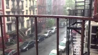Another rainy day in the East Village, New York City