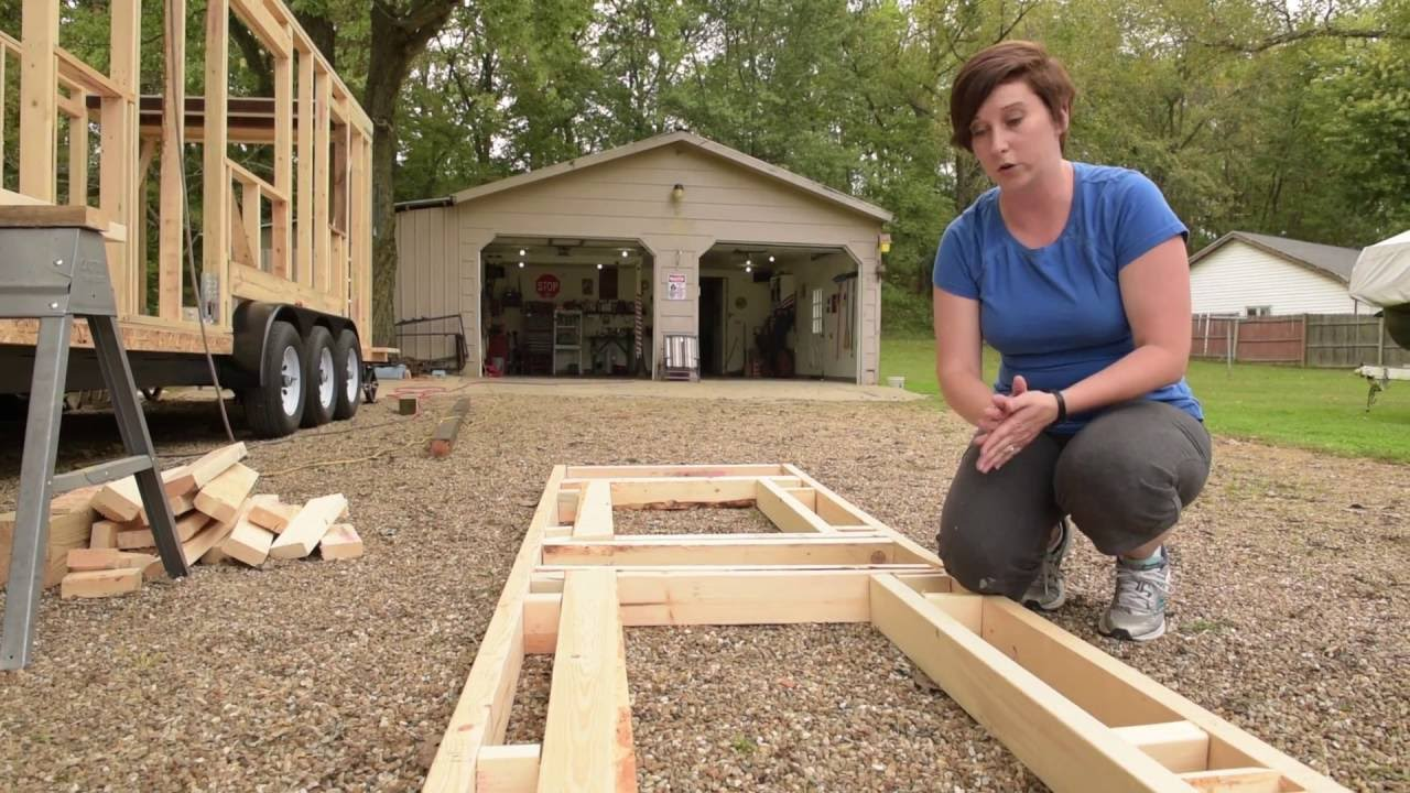 Tiny House Construction: Step 6 - Framing the Dormers for the ...