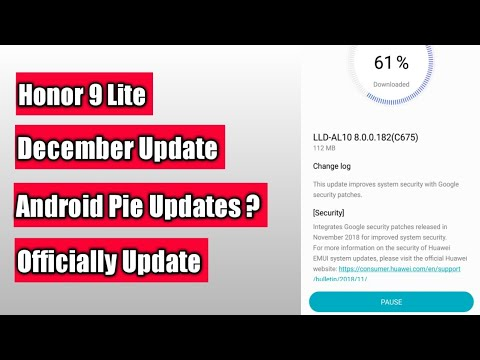 Honor 9 Lite December Update Android Pie Update Released ? Hindi