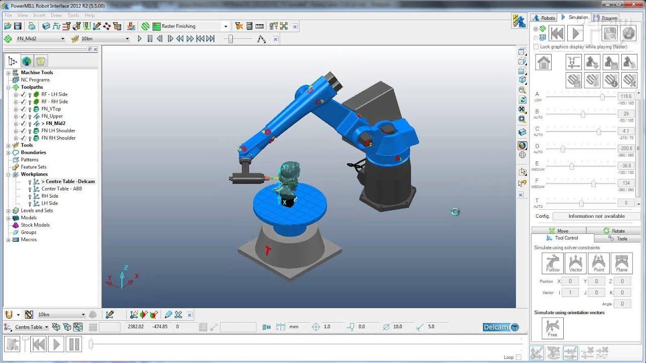 3d Wallpaper Printing Machine Powermill Robot External Axes Support Youtube