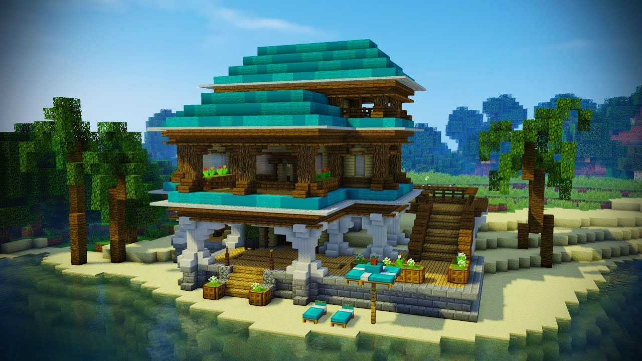 Minecraft Tropical Beach House