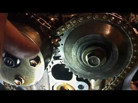 Замена цепи ГРМ, установка по меткам, двигатель 2az-fe, Тойота Камри 40