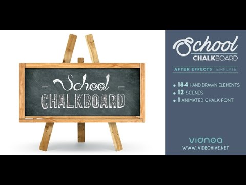 school chalkboard after effects template youtube. Black Bedroom Furniture Sets. Home Design Ideas