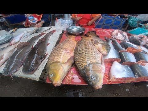 Laos market in savannakhet Laos , Asian street food