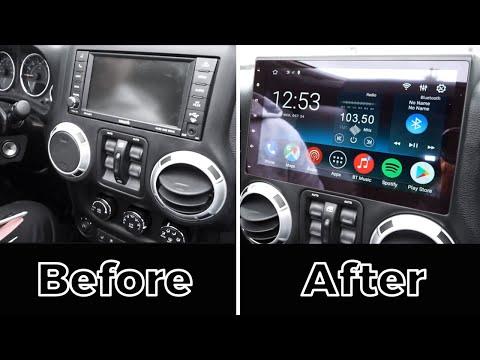 Jeep Wrangler 2011-2017 Android CarPlay 10.1'' Stereo By GTA Car Kits