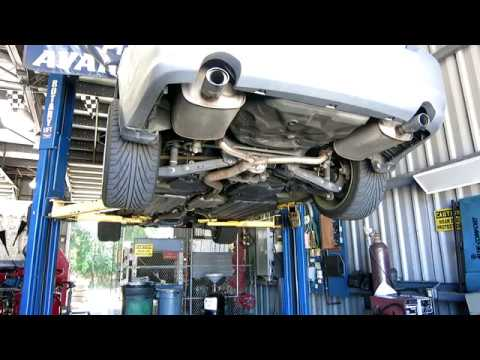 2012 subaru legacy midpipe and back exhaust install