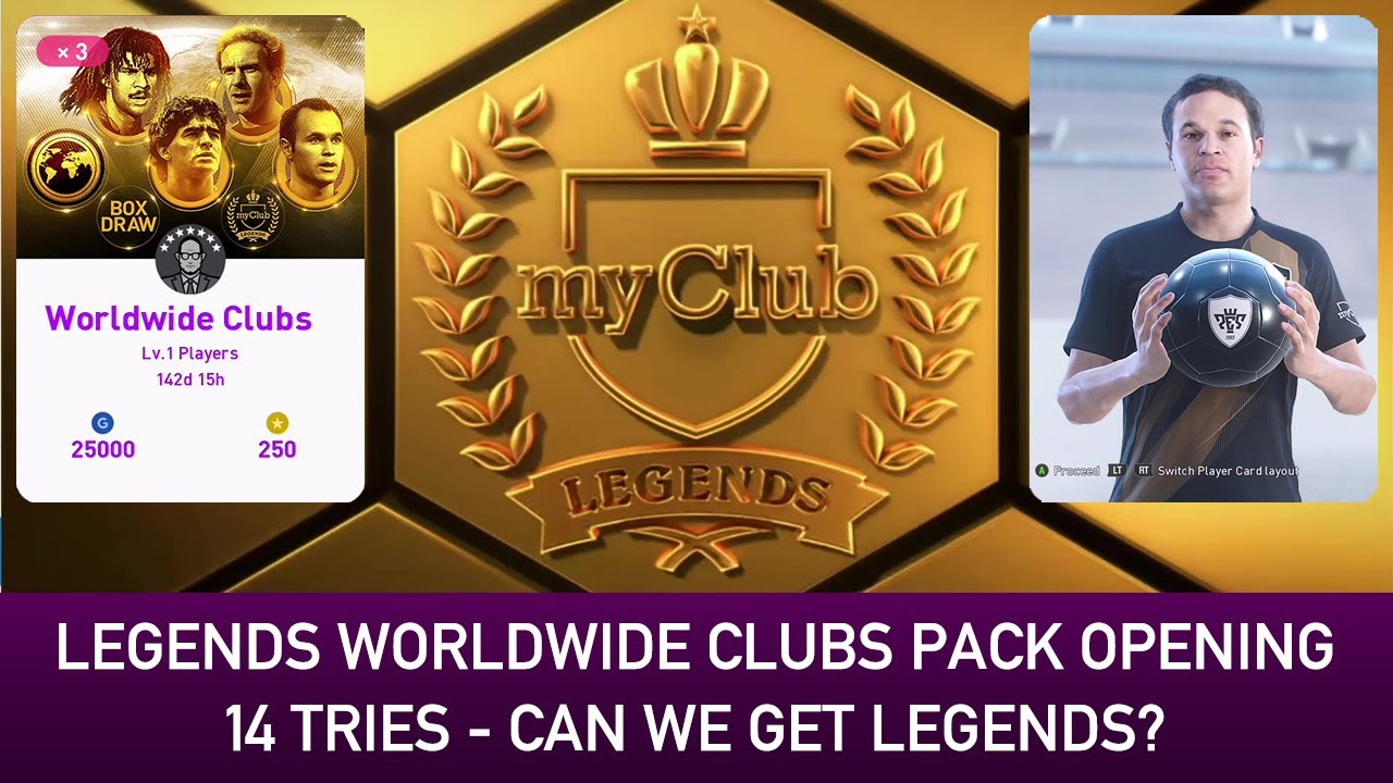 LEGENDS WORLDWIDE CLUBS BOX DRAW PACK OPENING | PES 2020