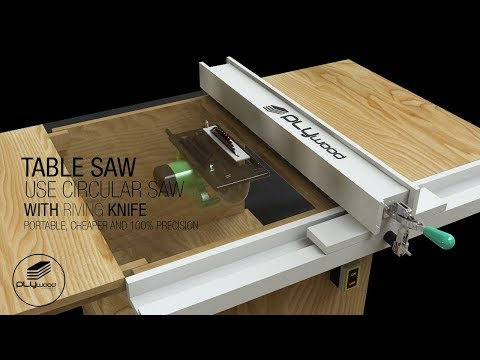 DIY Table Saw portable - How to make a homemade Table Saw with spliter riving knife use Circular Saw