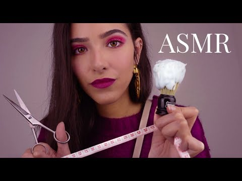 Asmr Getting You Ready Shaving Haircut Measuring You Youtube
