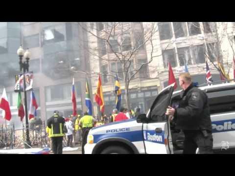 Video de los momentos de la explosión en el maratón de Boston