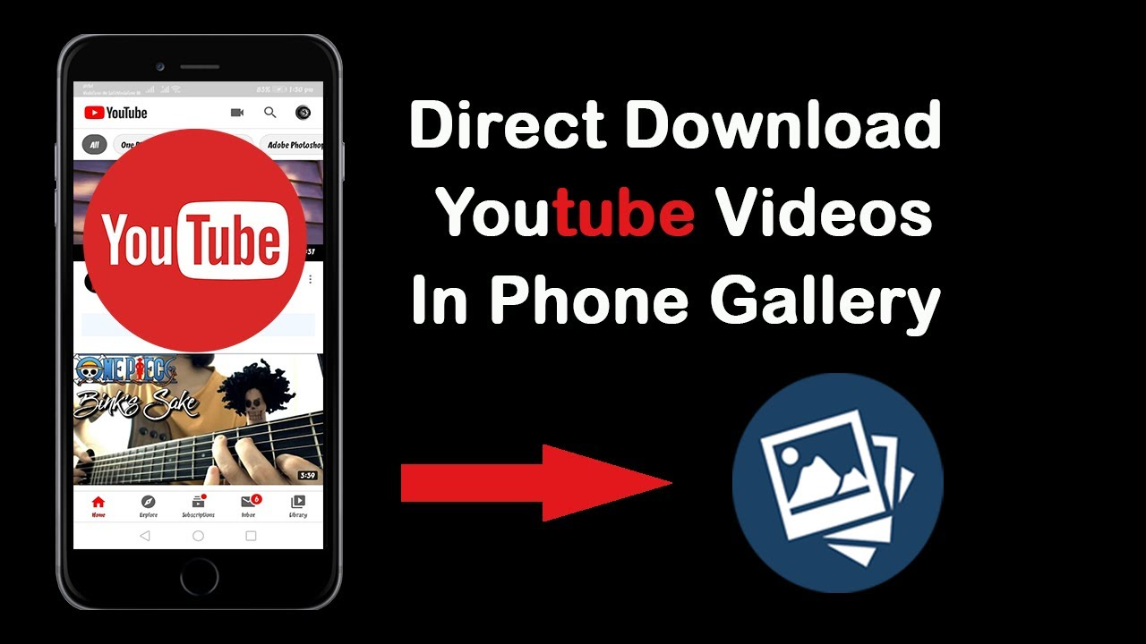 How to Download Youtube Videos In Phone Gallery Without any Apps