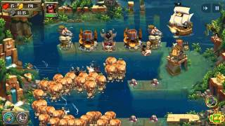 Pirate Legends TD Tower Defense Gameplay on Android - Level 11