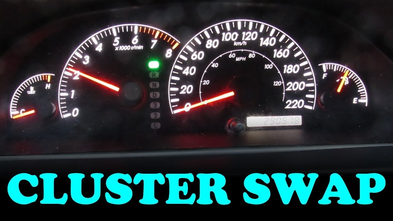 hight resolution of how to swap an instrument cluster