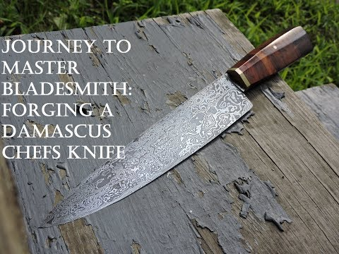 Forging A Damascus Steel Chef Knife Part 1
