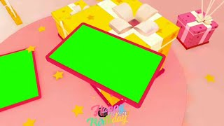 Happy Birthday To You Green Screen Video Effect// happy Birthday to you whatsapp status green screen