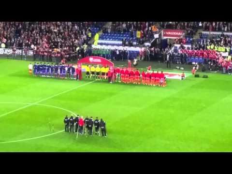 Wales v Andorra anthems
