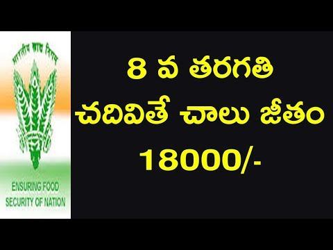 Food Corporation of India jobs 8th class pass jobs watch man jobs