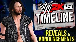 WWE 2K18 REVEALS & ANNOUNCEMENTS TIMELINE! [#WWE2K18News]