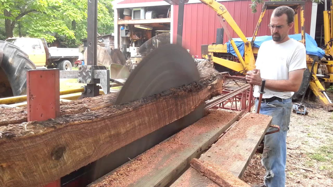 foley belsaw sawmill test run youtube